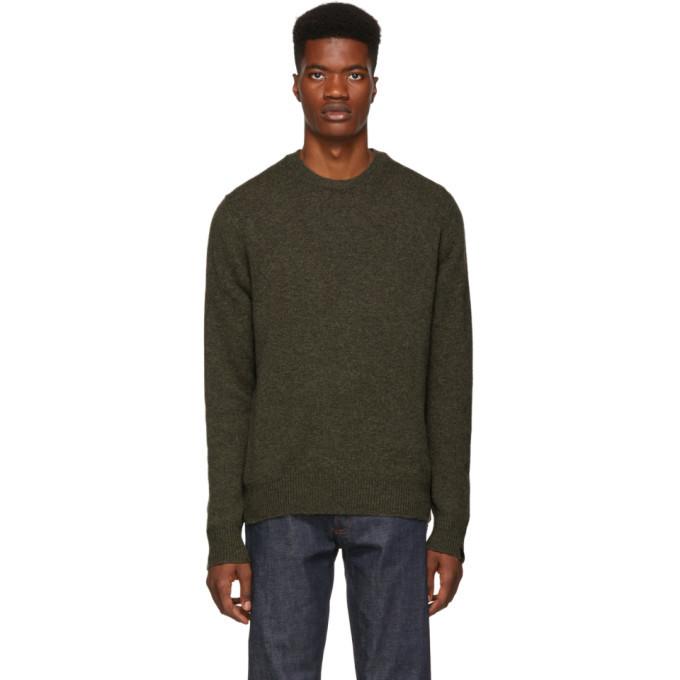 Photo: rag and bone Khaki Cashmere Haldon Sweater