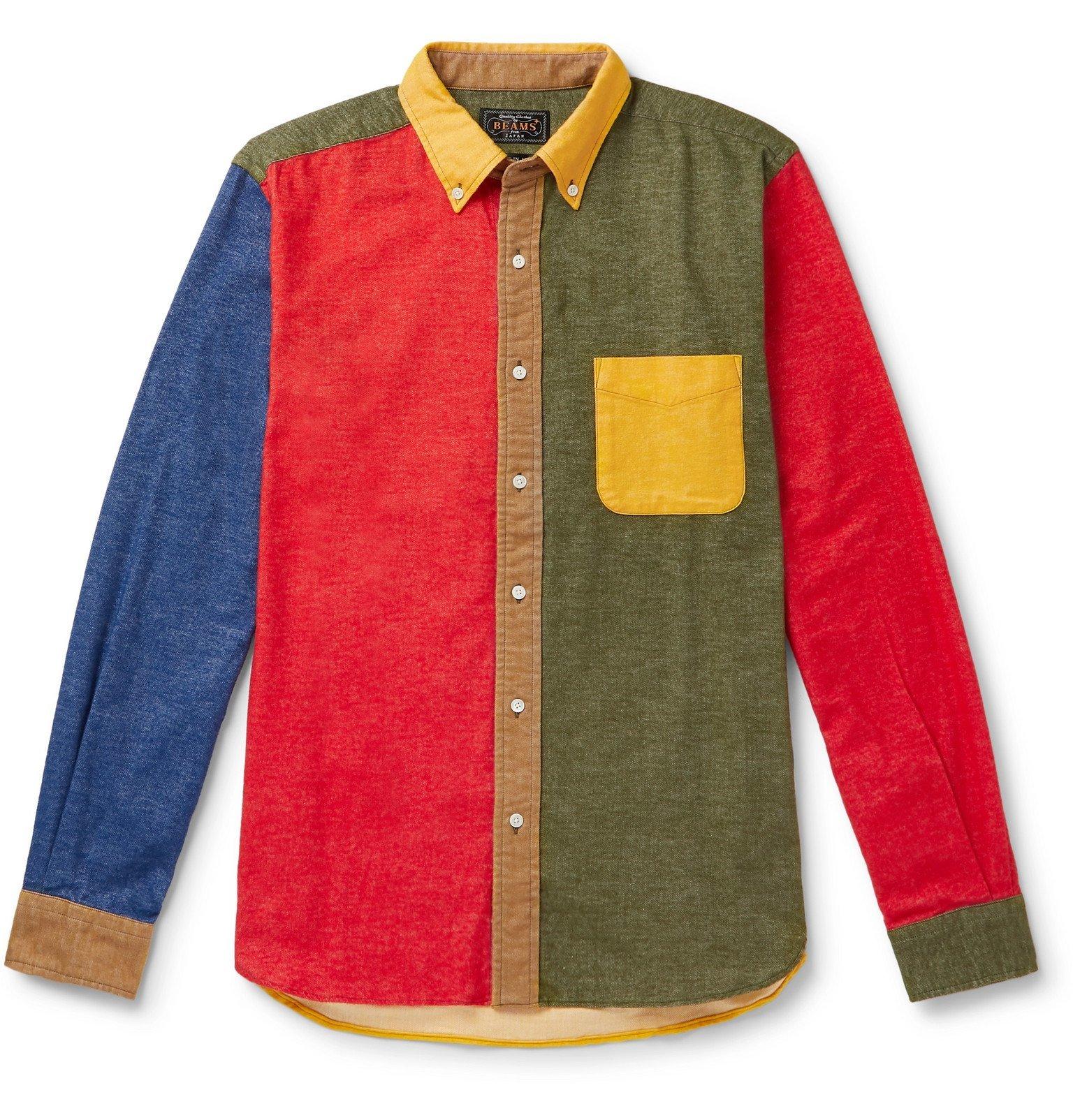 Photo: Beams Plus - Button-Down Collar Cotton-Flannel Shirt - Multi