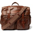 Belstaff - Waxed-Leather Messenger Bag - Brown