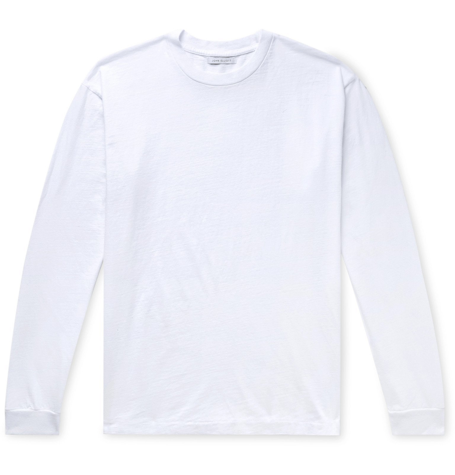 Photo: John Elliott - University Oversized Cotton-Jersey T-Shirt - White