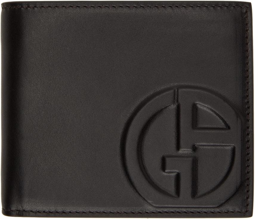 Photo: Giorgio Armani Black Logo Bifold Wallet