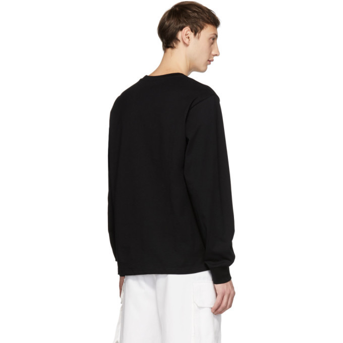 032c Black Embroidered Classic Long Sleeve T-Shirt