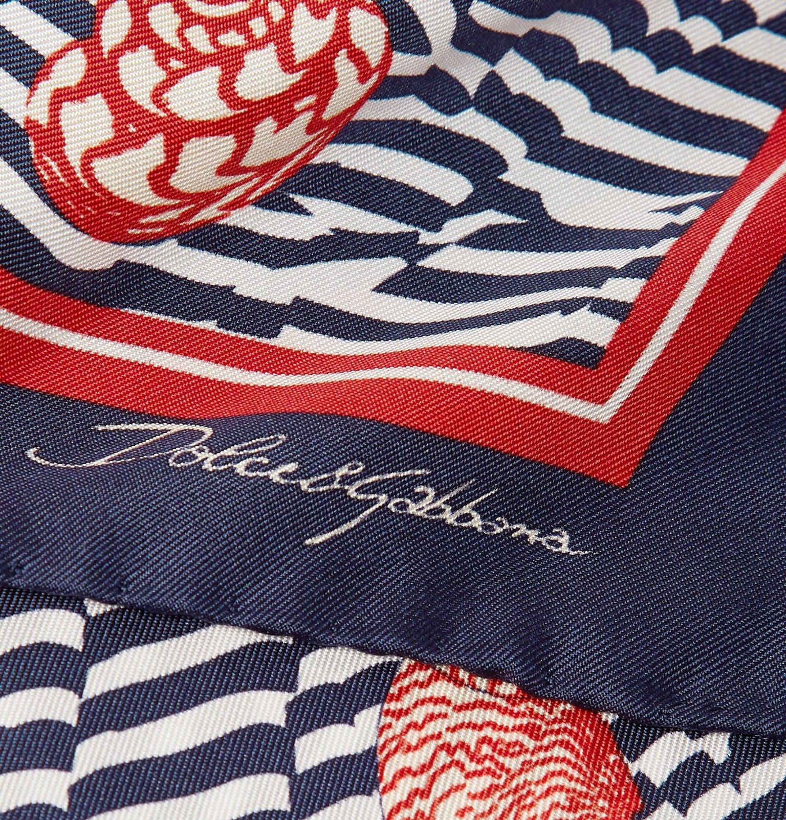 Dolce & Gabbana - Printed Silk-Twill Pocket Square - Blue