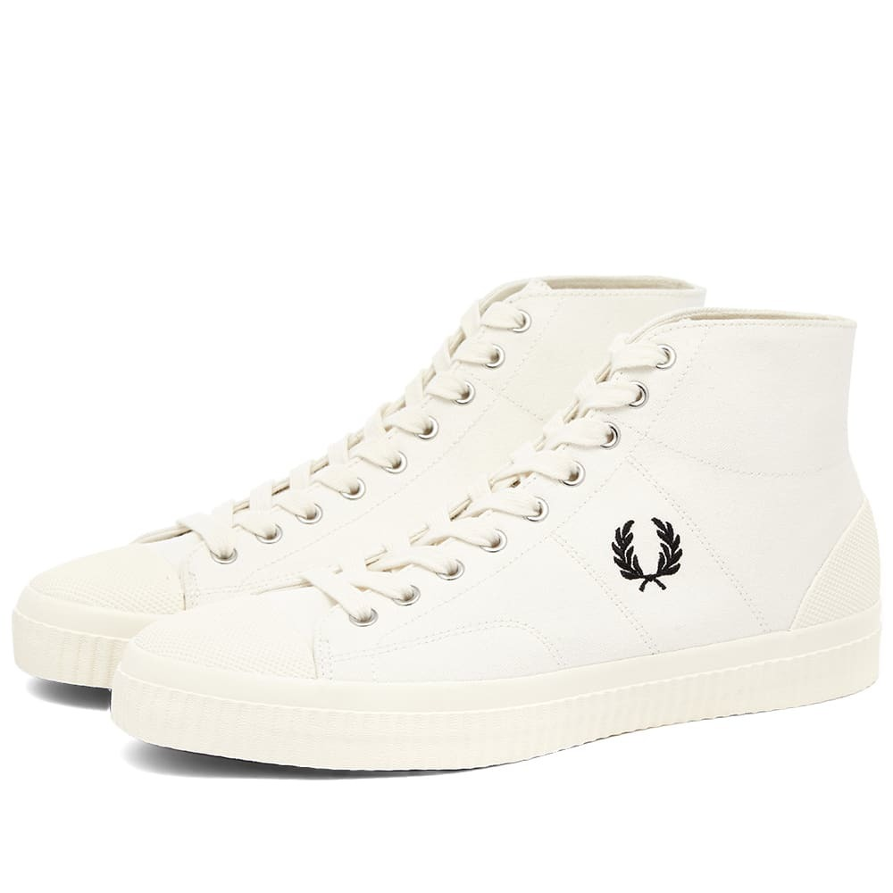 Photo: Fred Perry Authentic Hughes Canvas Mid Sneaker