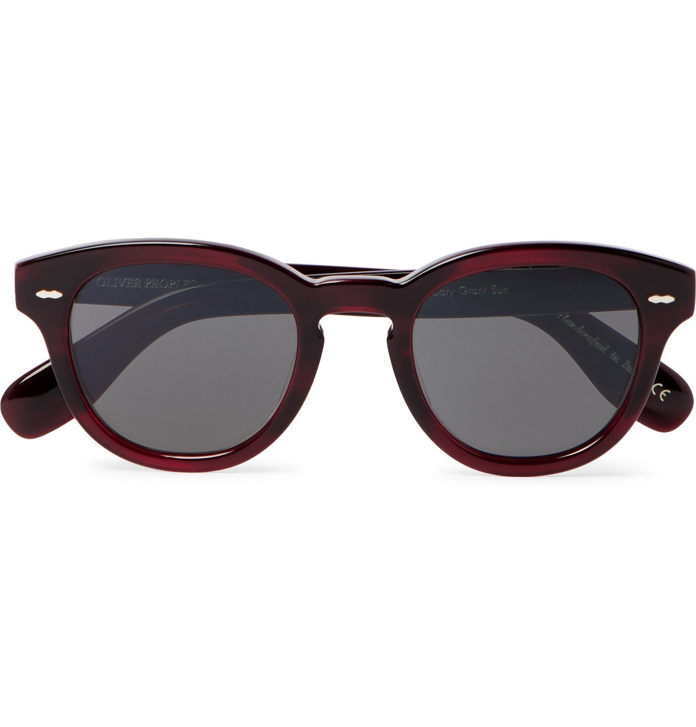 Photo: OLIVER PEOPLES - Cary Grant Sun Round-Frame Acetate Sunglasses - Burgundy