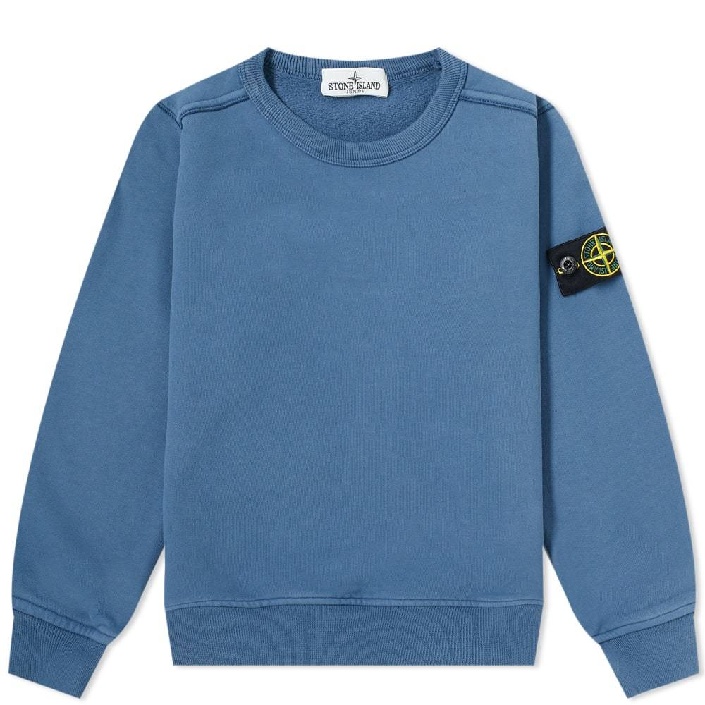 Photo: Stone Island Junior Crew Sweat Mid Blue