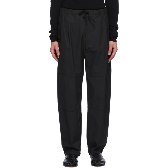 Photo: Bottega Veneta Black Coated Trousers