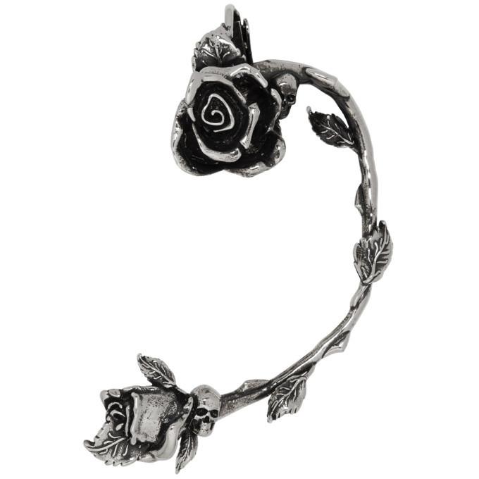 Photo: Alexander McQueen Gunmetal Rose Earring