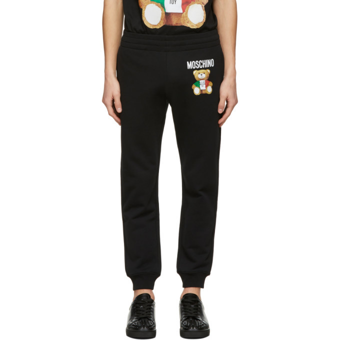 Photo: Moschino Black Italian Teddy Bear Lounge Pants