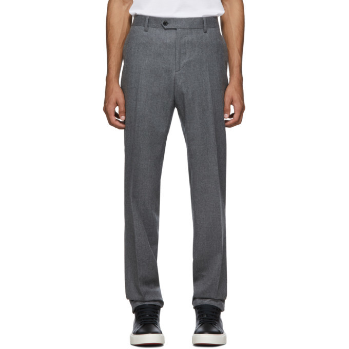 Photo: Salvatore Ferragamo Grey Tailored Trousers
