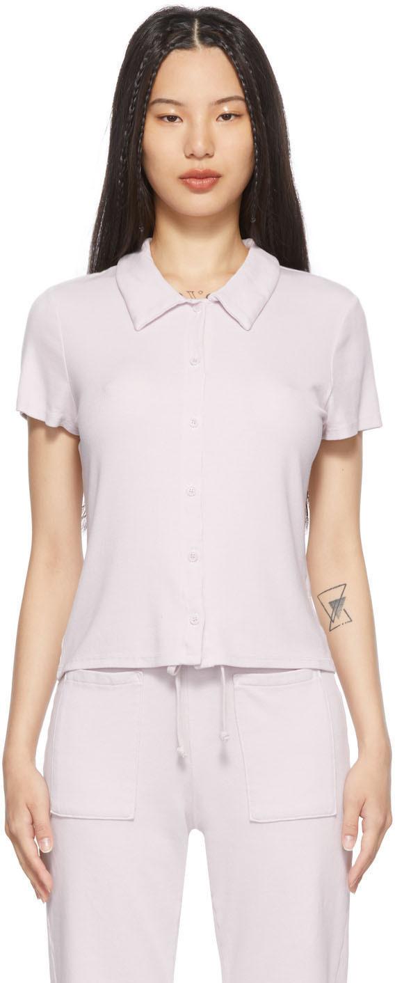 Photo: LACAUSA Purple Micro Modal Baby Polo T-Shirt