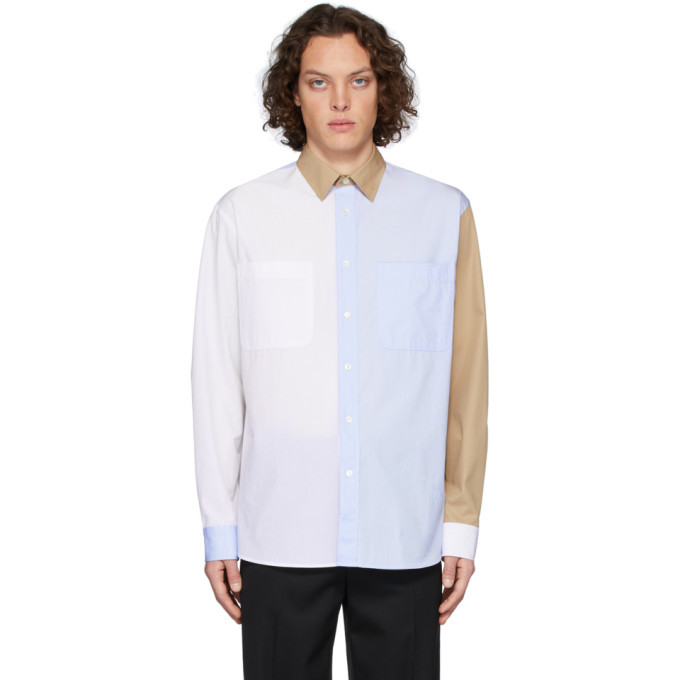 Photo: JW Anderson White and Blue Chest Pockets Shirt