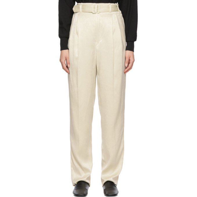 Photo: Lemaire Off-White Pleated Pants