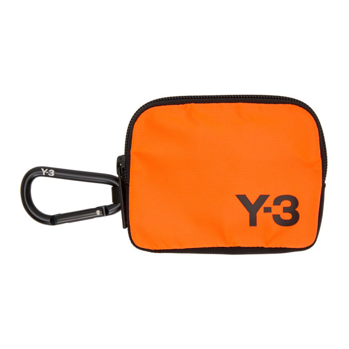 Y-3 Orange Logo Pouch