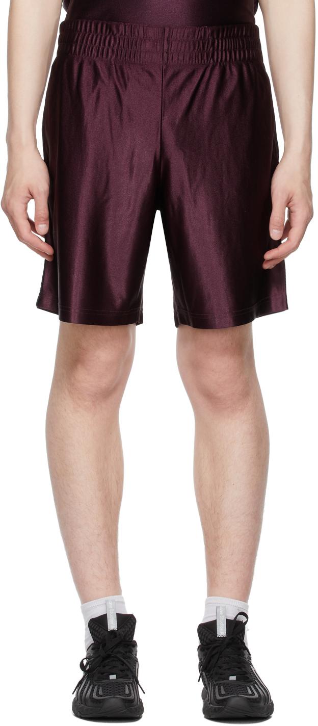 Photo: Acne Studios Burgundy Piping Shorts