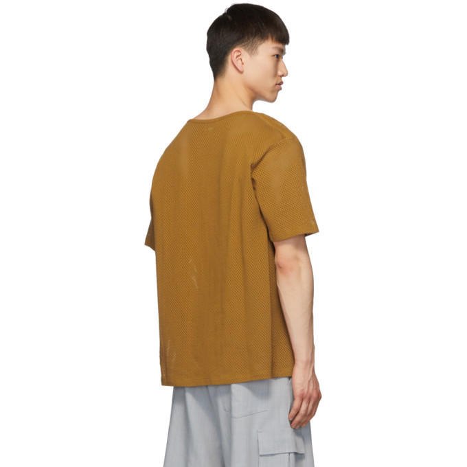 Lemaire Orange Sunspel Edition Mesh T-Shirt