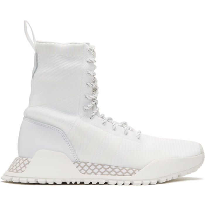 adidas Originals White F-1.3 PK High-Top Sneakers