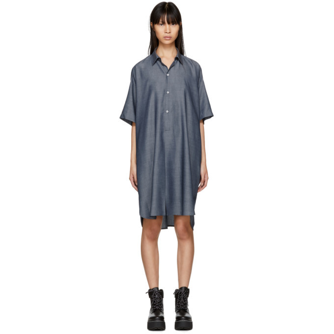 2902c22f4bc02 6397 Indigo Long Mens Shirt Dress 6397