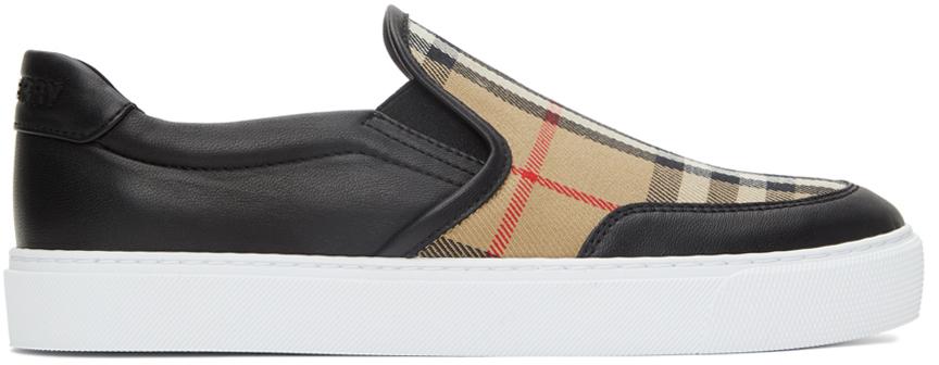 Photo: Burberry Salmond Check Slip-On Sneakers