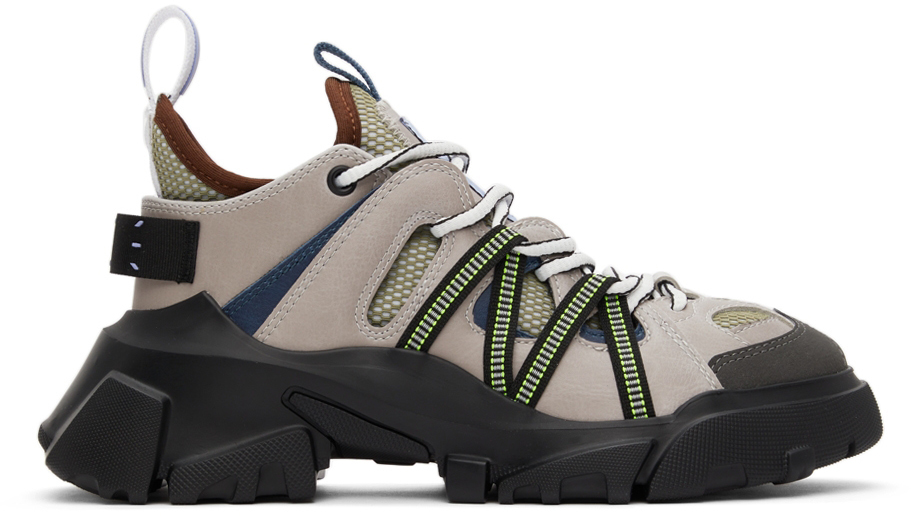 Photo: MCQ Grey & Green Orbyt Descender Sneakers