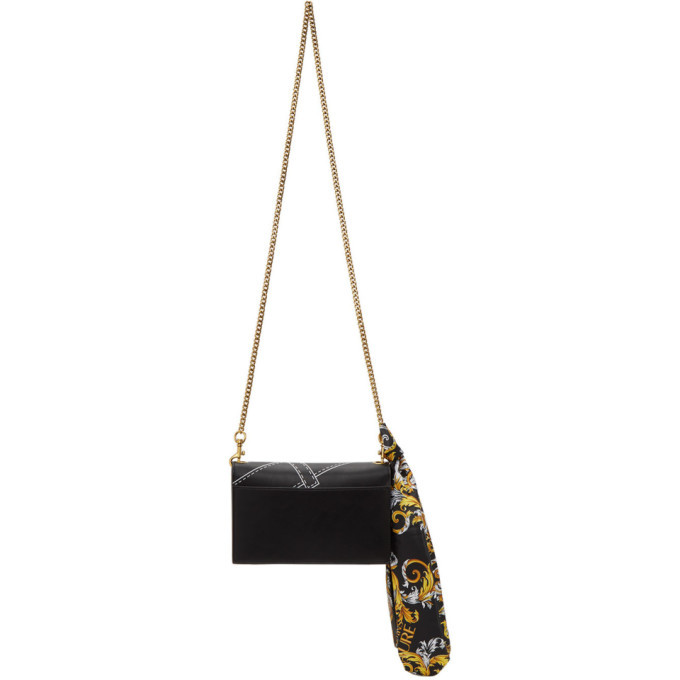 Versace Jeans Couture Black Faux-Leather Scarf Wallet Bag