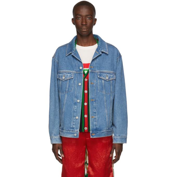 Photo: Gucci Blue Denim Gucci Band Jacket