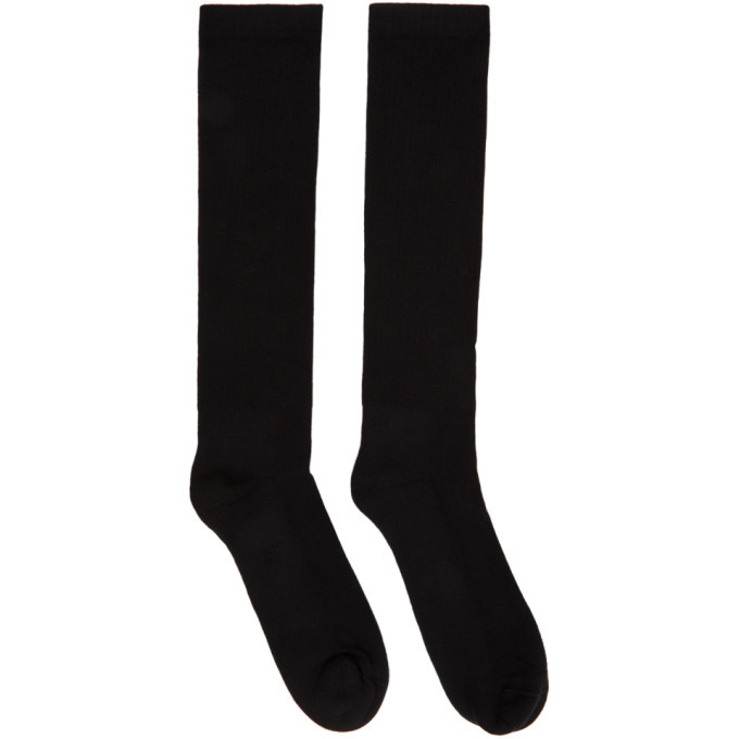 Photo: Rick Owens Black Performa FW20 Mid-Calf Socks