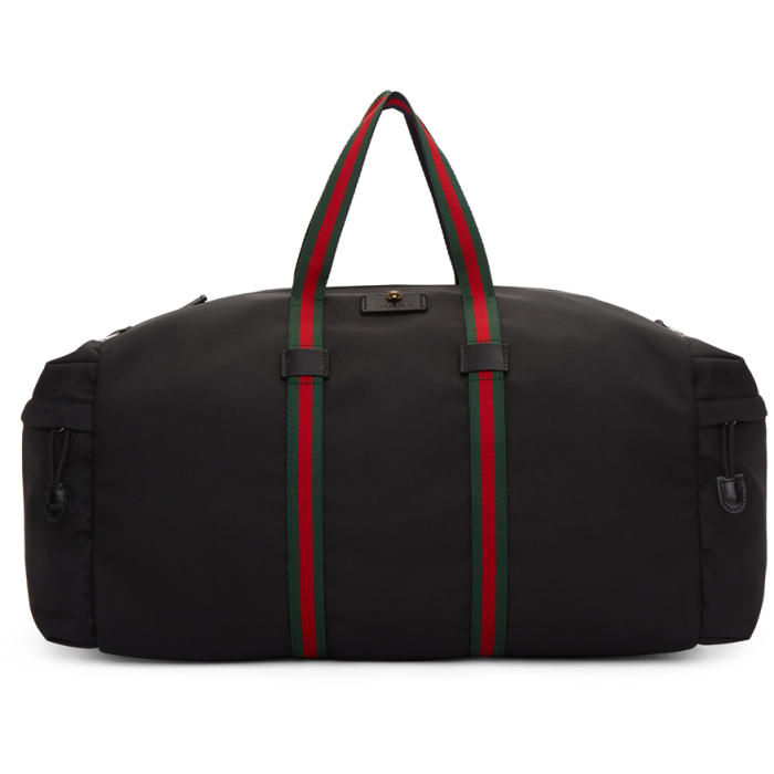 Photo: Gucci Black Technical Canvas Duffle Bag