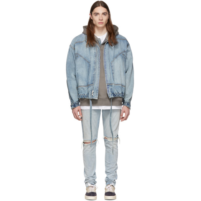 Photo: Fear of God Indigo Denim Track Jacket