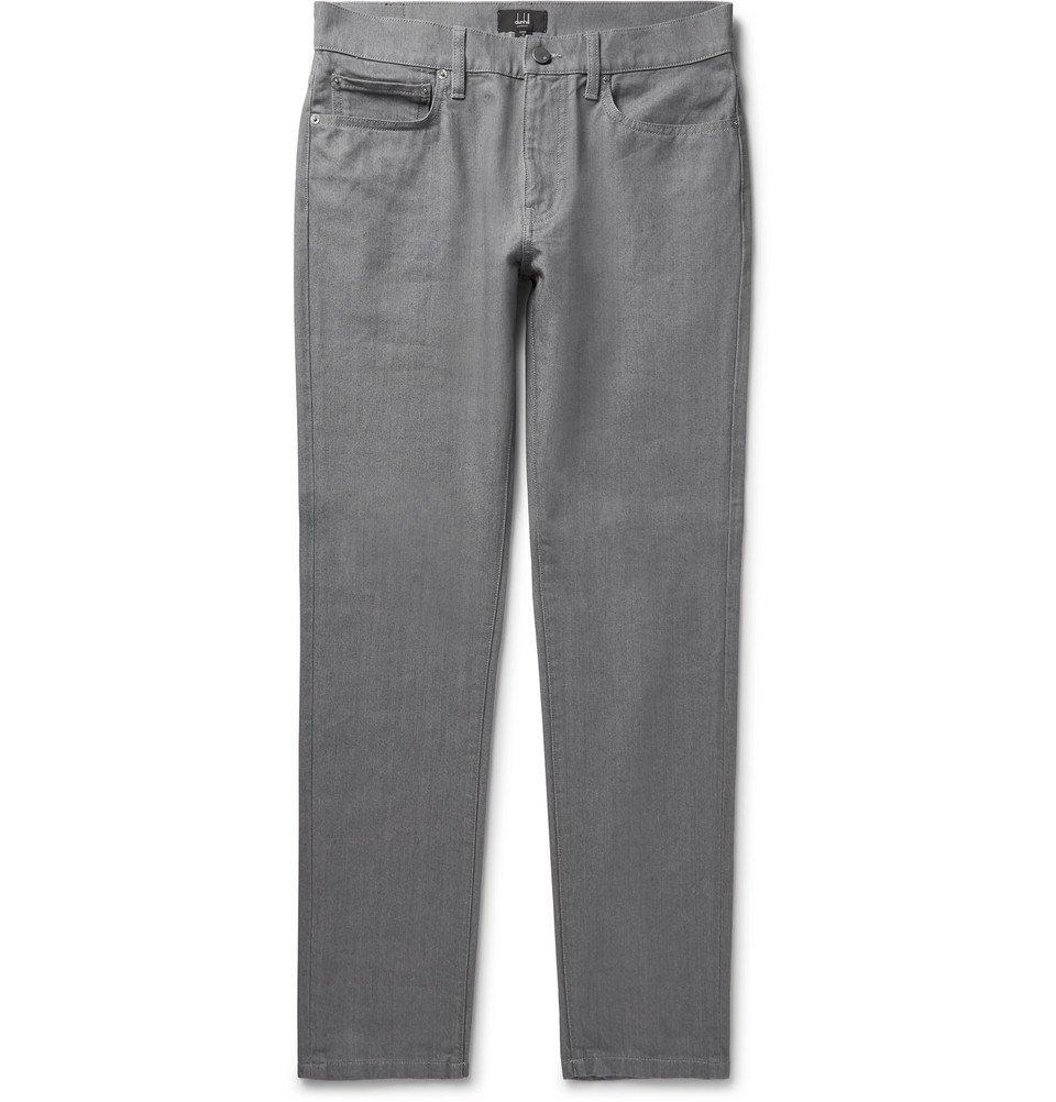 Dunhill - Slim-Fit Denim Jeans - Men - Gray