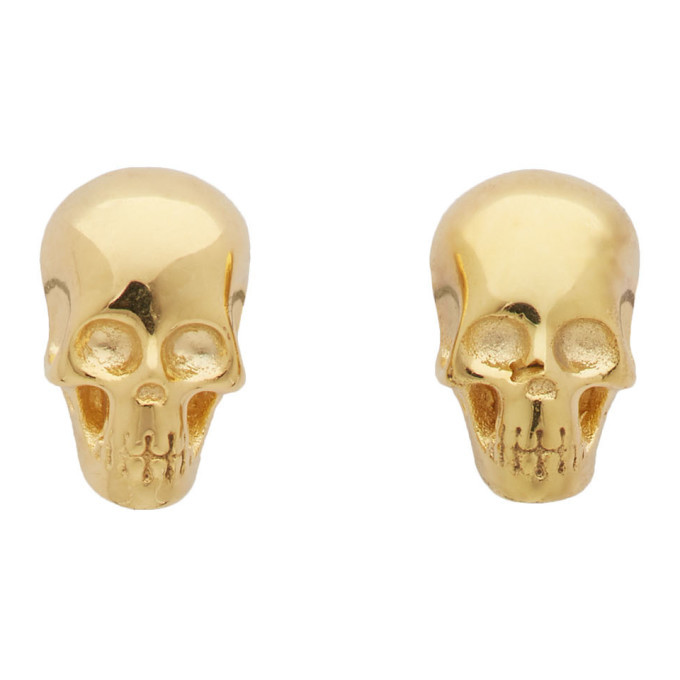 Photo: Stolen Girlfriends Club Gold Baby Skull Earrings