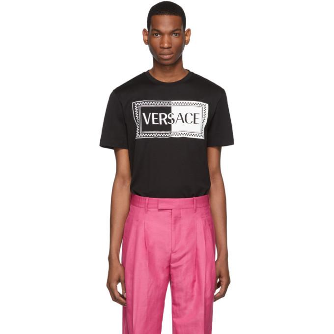 Photo: Versace Black 90s Vintage Logo Slim Fit T-Shirt