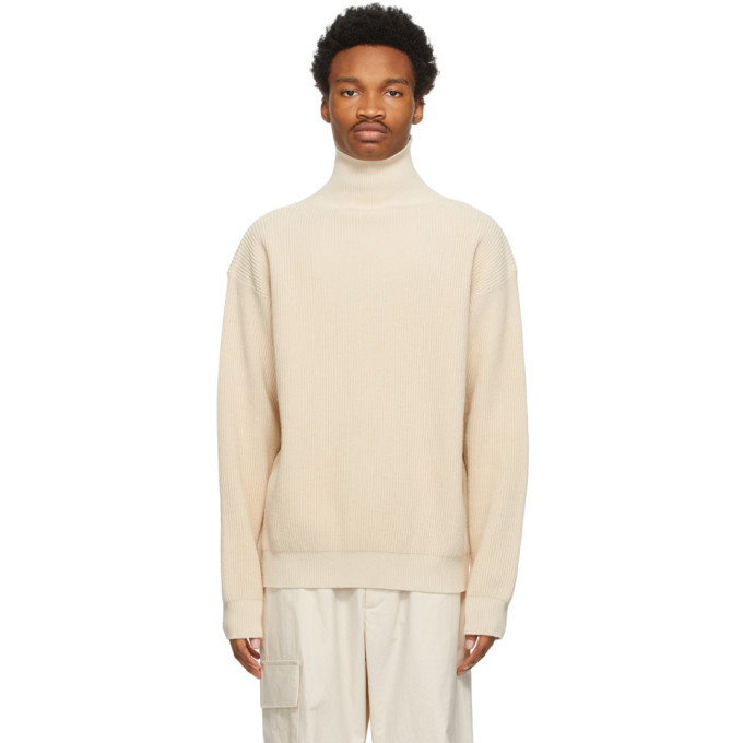 Photo: Jil Sander Off-White Cotton Turtleneck