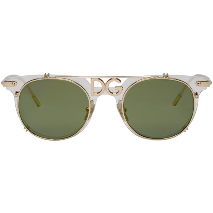 Photo: Dolce and Gabbana Gold Logo Sunglasses