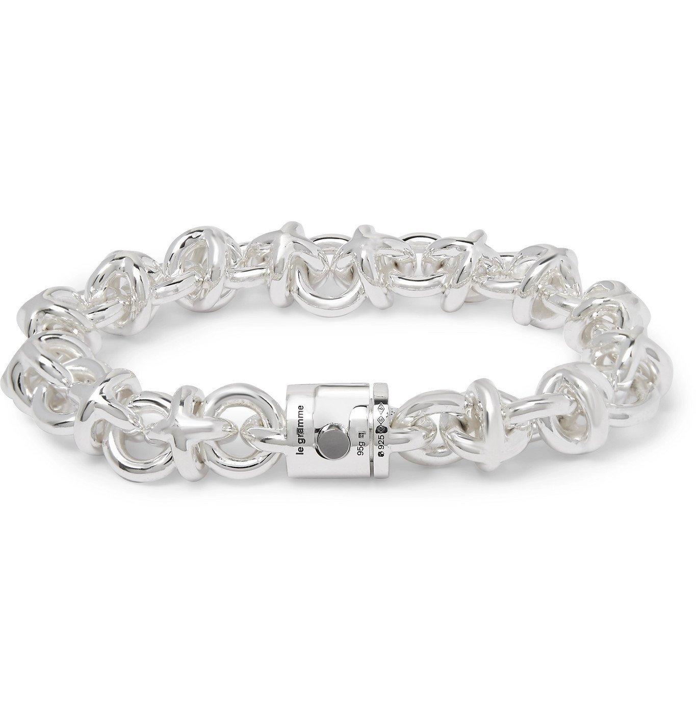 Photo: Le Gramme - Le 87 Sterling Silver Chain Bracelet - Silver