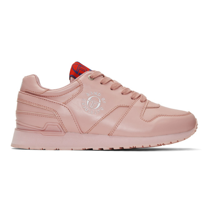 Photo: Band of Outsiders Pink Sergio Tacchini Edition Leather Sneakers