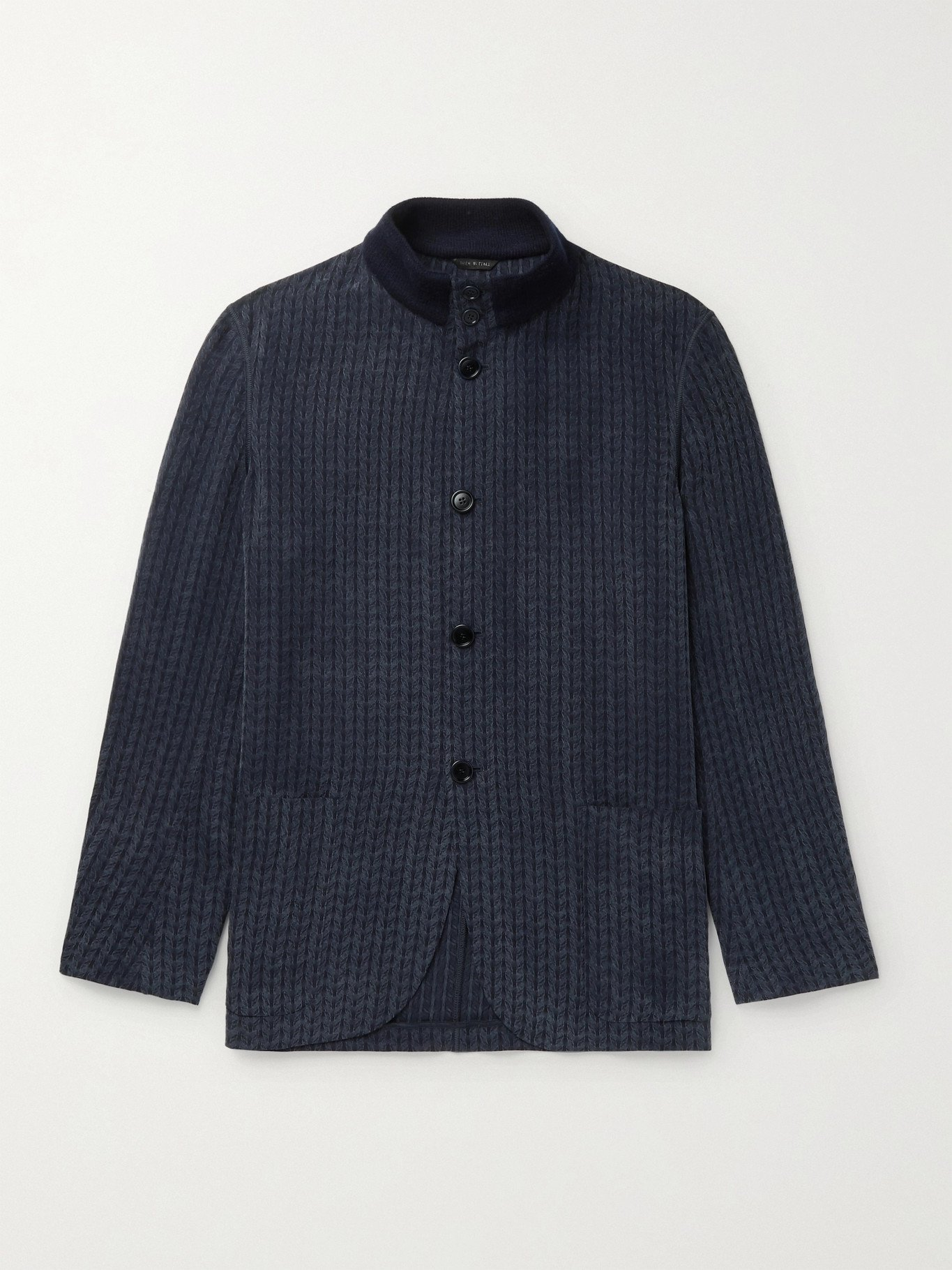 GIORGIO ARMANI - Jacquard Shirt Jacket - Blue - IT 46