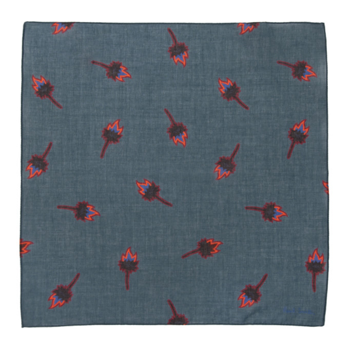 PS by Paul Smith Navy Graphic Pocket Square