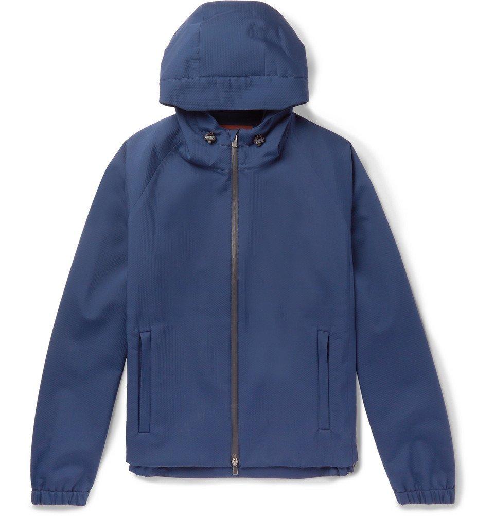 Photo: Loro Piana - Rain-System Stretch-Shell Hooded Jacket - Men - Blue