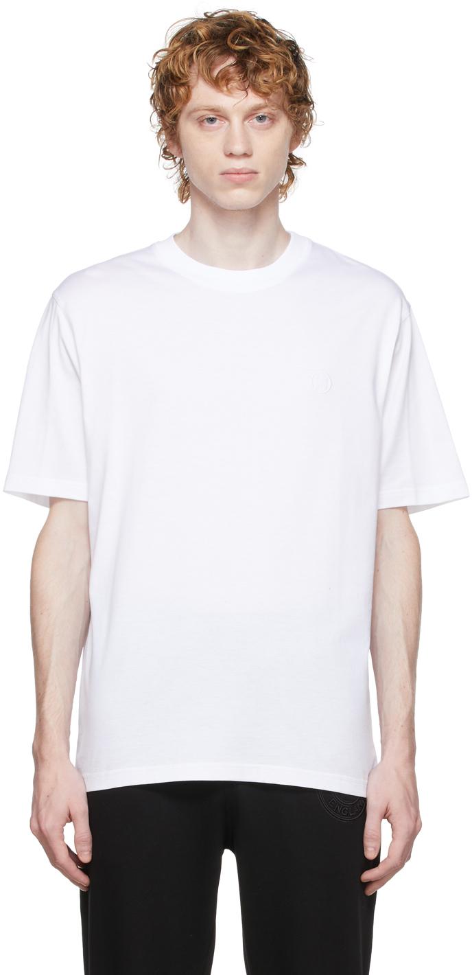 Photo: Burberry White Monogram Motif T-Shirt