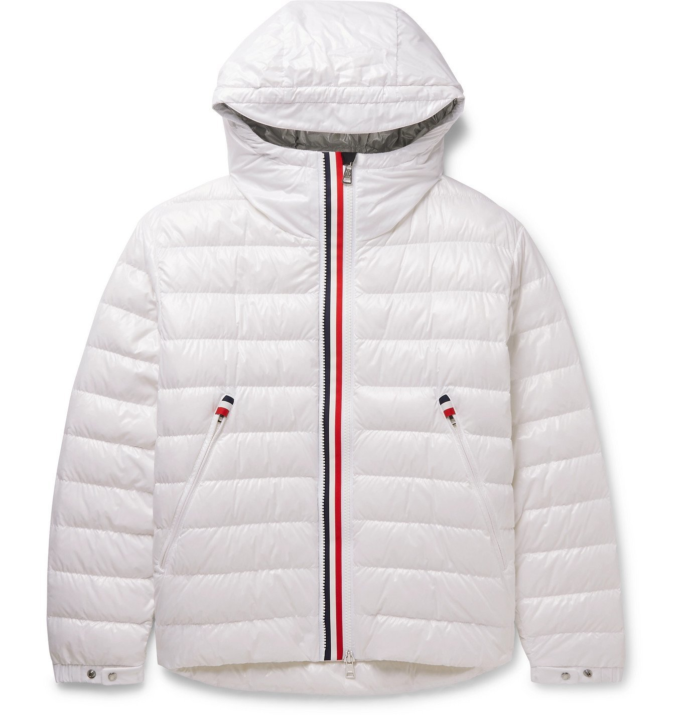 Photo: MONCLER - Blesle Slim-Fit Quilted Shell Hooded Down Jacket - White