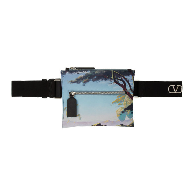 Valentino Multicolor Valentino Garavani VLogo Printed Crossbody Bag