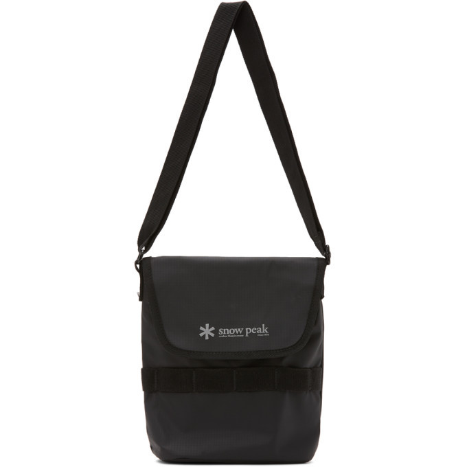 Photo: Snow Peak Black Mini Shoulder Messenger Bag