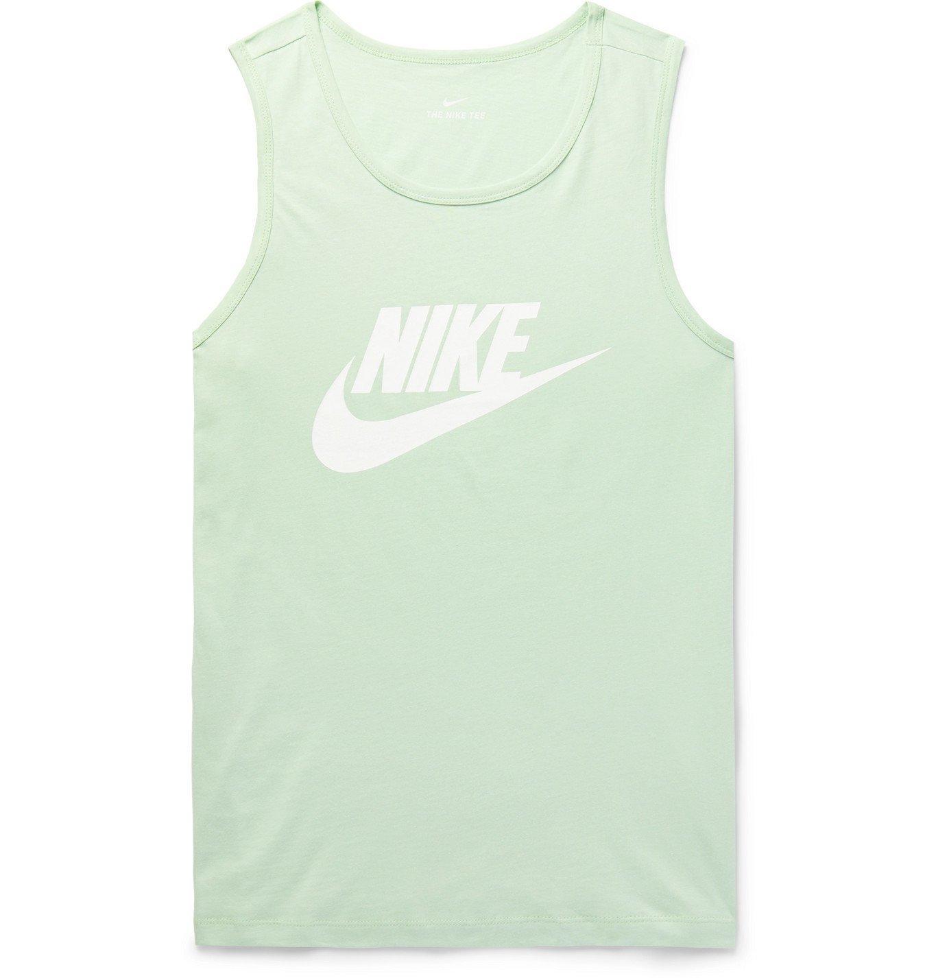Photo: Nike - Sportswear Logo-Print Cotton-Jersey Tank Top - Green