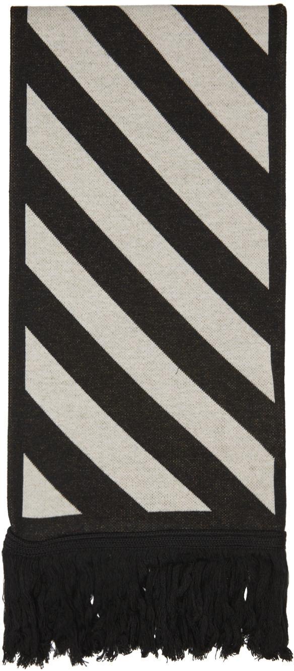 Photo: Off-White Black & Orange Arrow Scarf