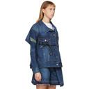 Sacai Blue Belted Panelled Denim Jacket