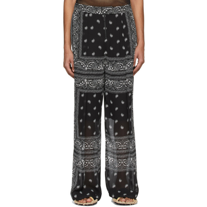 Photo: Dion Lee Black and White Paisley Scarf Trousers