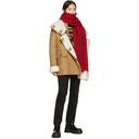 Raf Simons Red Wool Asymmetric Scarf