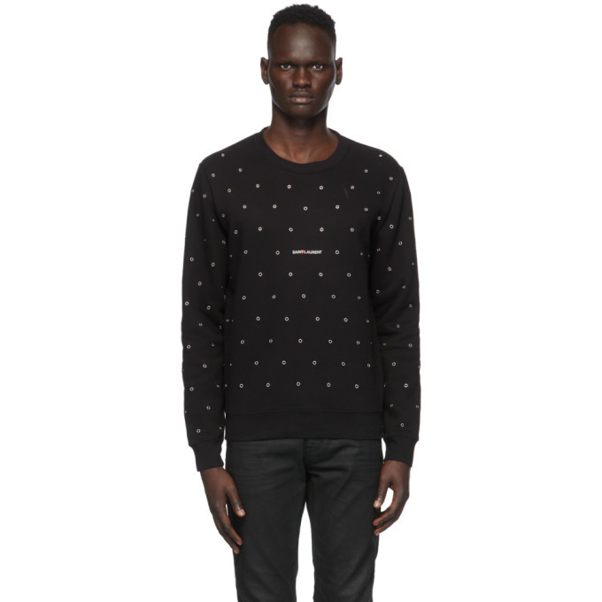 Photo: Saint Laurent Black Eyelet Sweatshirt