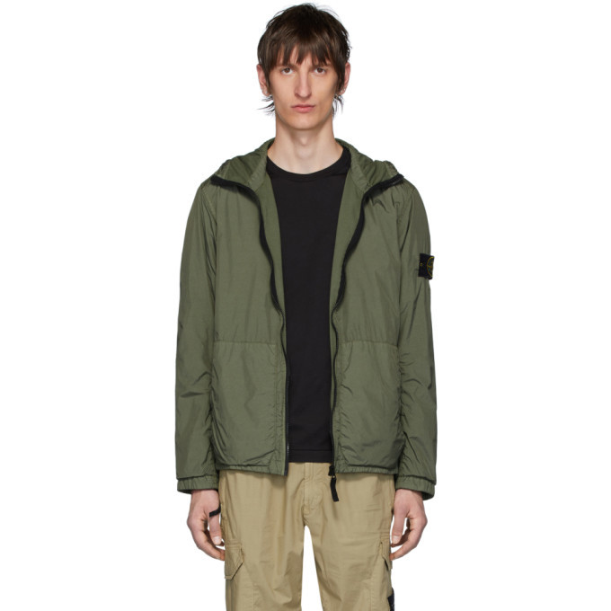 Photo: Stone Island Khaki Nylon Rep Hooded Coat